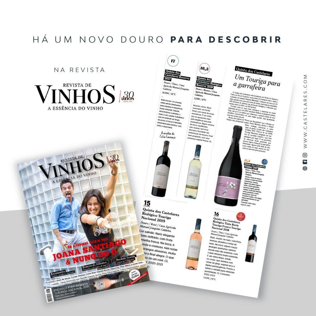 Quinta dos Castelares em destaque na Revista de Vinhos I Junho 2020