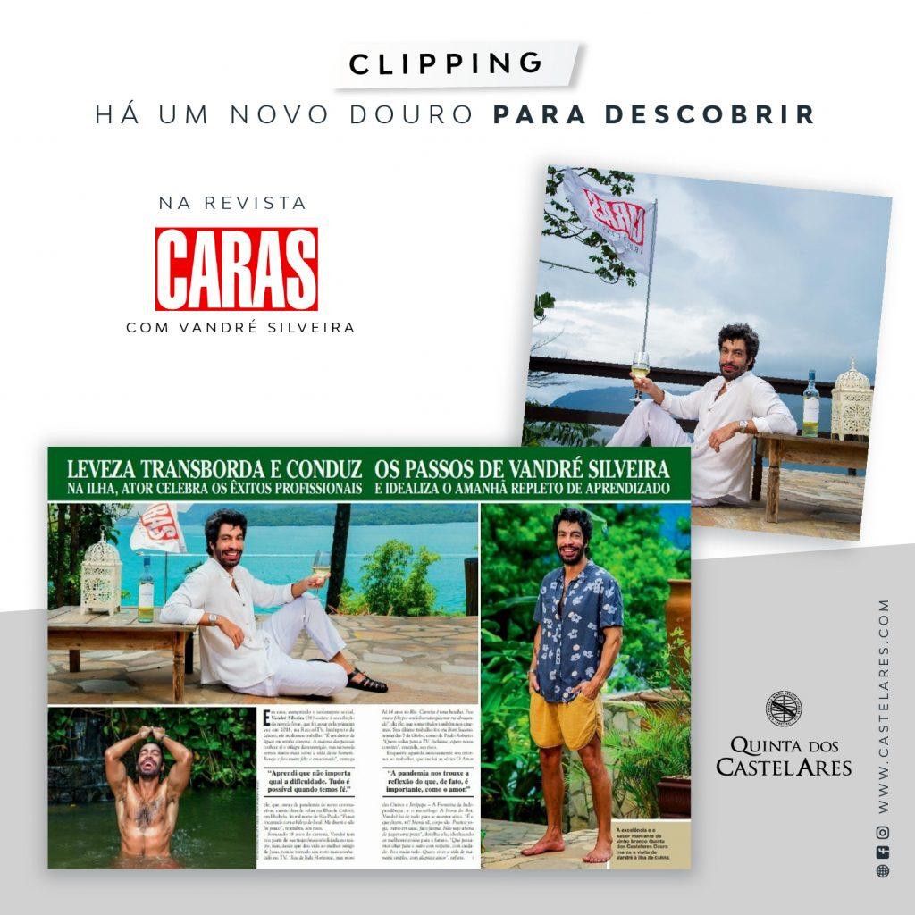 Clipping I Revista CARAS Brasil - Ator Vandré Silveira