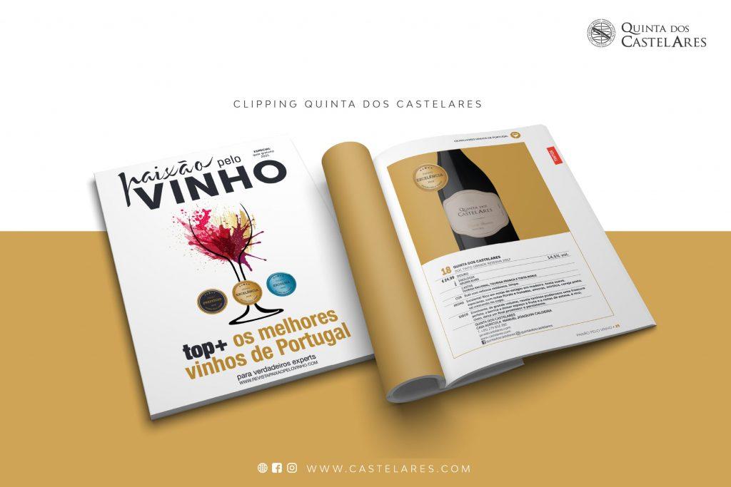 """Quinta dos Castelares integra """"TOP+ os melhores vinhos de Portugal 2021"""""""